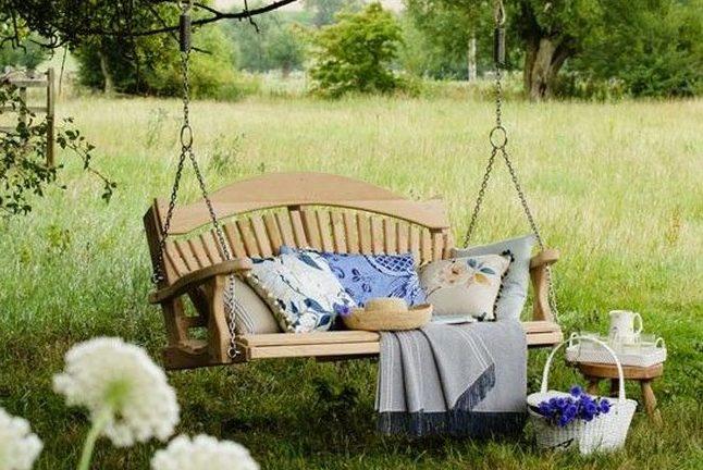 huśtawka w ogrodzie huśtawka ogrodowa inspiracje design pomysły aranżacja ogrodu jaką huśtakwę wybrać do ogrodu 13