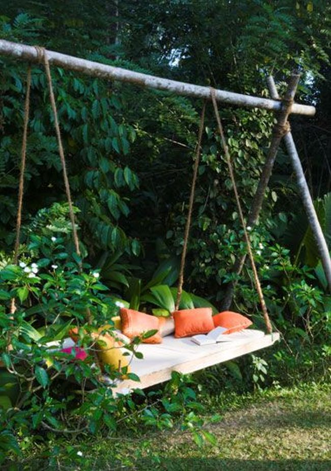 Hu tawka w ogrodzie hu tawka ogrodowa inspiracje design - Balancelle lit suspendu places neo design ...
