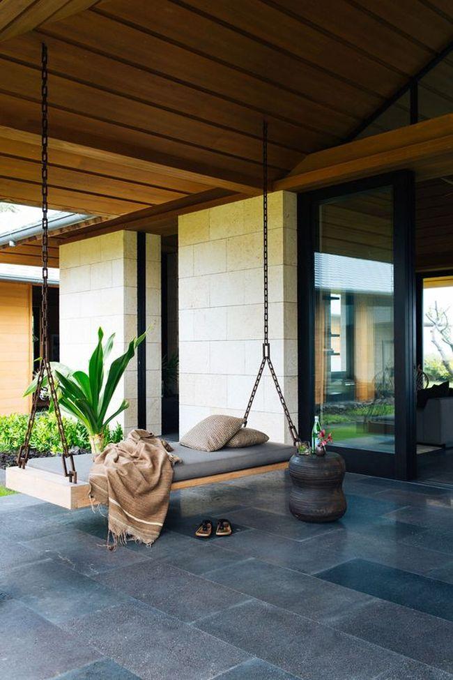 huśtawka w ogrodzie huśtawka ogrodowa inspiracje design pomysły aranżacja ogrodu jaką huśtakwę wybrać do ogrodu 26