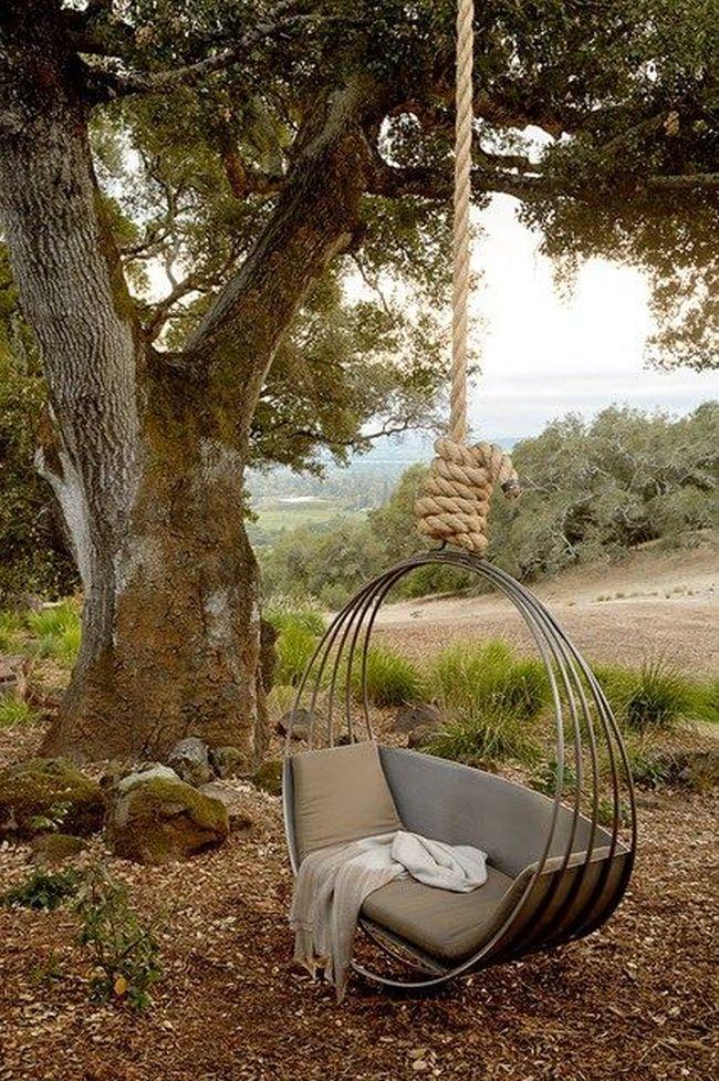 huśtawka w ogrodzie huśtawka ogrodowa inspiracje design pomysły aranżacja ogrodu jaką huśtakwę wybrać do ogrodu 27