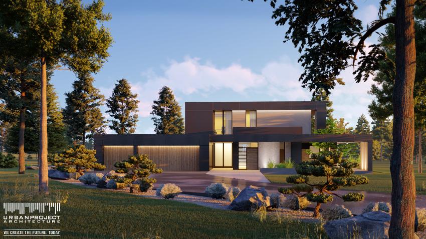 nowoczesny dom pośród natury