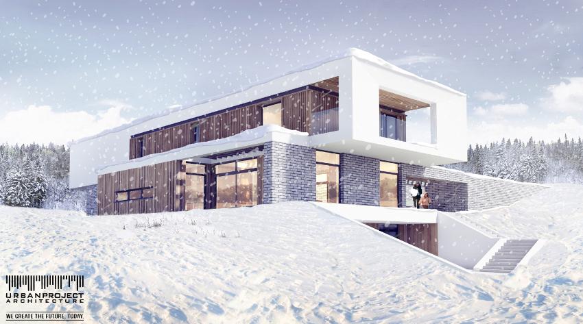nowoczesny prosty dom, projekt indywidualny nowoczesnego domu, projekt prostego domu, projektowanie indywidualne