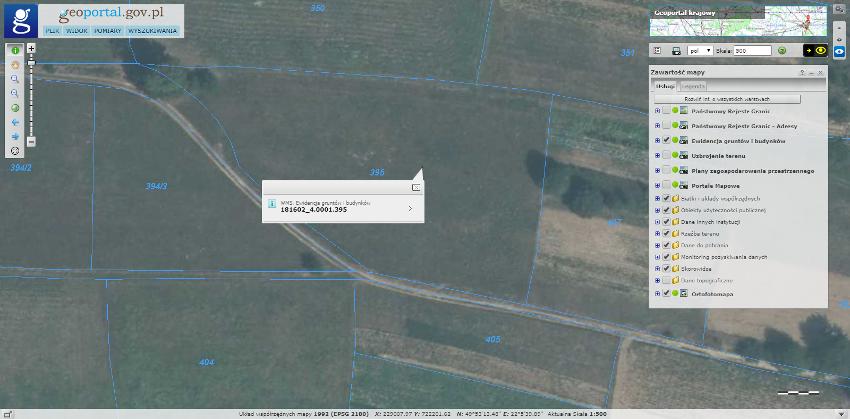 Jak wyszukać i znaleźć działkę w geoportalu? Jak znaleźć identyfikator i numer działki? geoportal