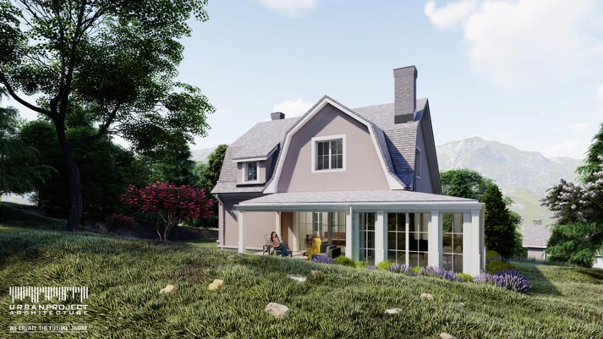 dom na małą działkę, mały dom, domek, projekt indywidualny domu domku małego niewielkiego o małej powierzchni zabudowy