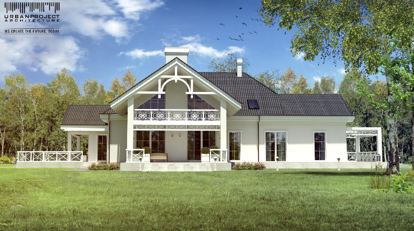 dom w stylu dworkowym, projekt dworku, projekt dworu, dom dworek, nowoczesny dwór, dwór polski projekt
