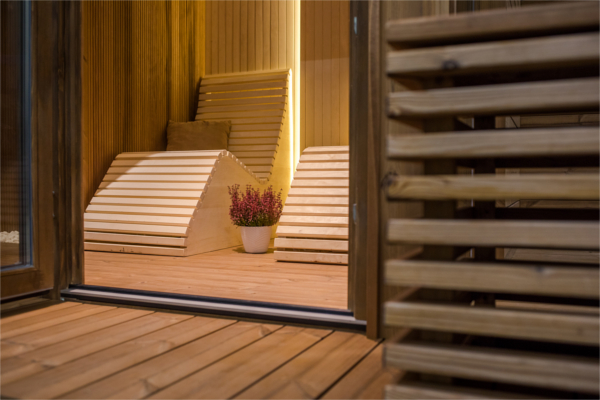 sauna zewnętrzna, do ogrodu, ogrodowa,