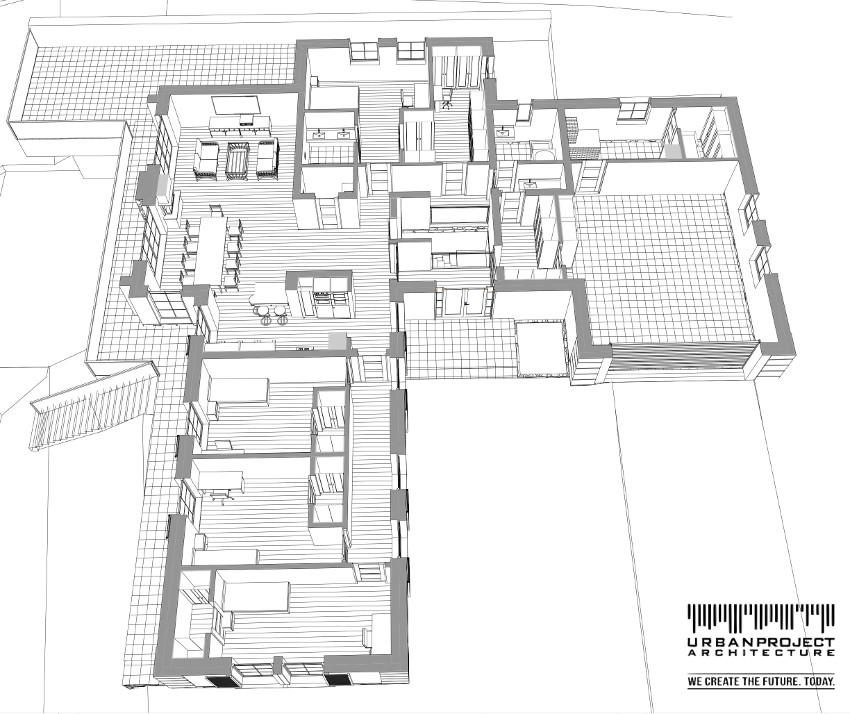 elegancki dom na stoku, projekt indywidualny, dach dwuspadowy, taras wielopoziomowy
