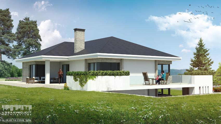 wyjątkowy projekt domu na zboczu na skarpie, na stromą nierówną działkę, na wzgórzu, indywidualny, nowoczesny, wizualizacje, wnętrze, czy warto kupić gotowy projekt