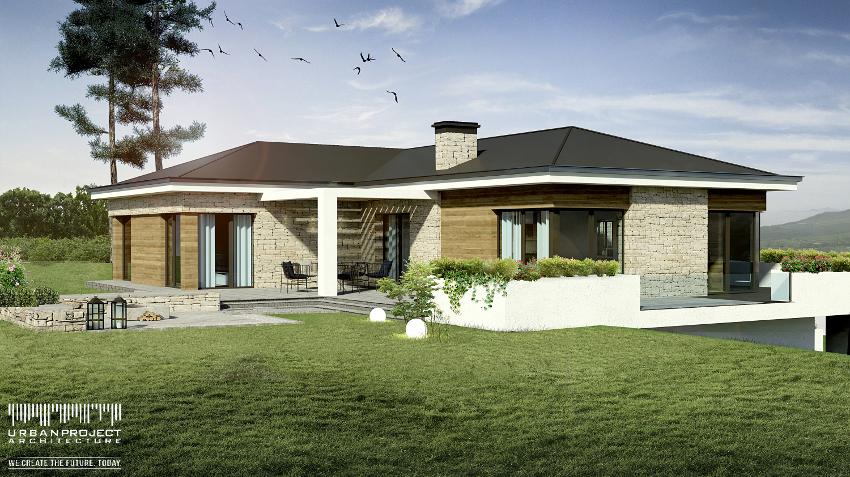 wyjątkowy projekt domu na zboczu skarpie, na stromą nierówną działkę, na wzgórzu, indywidualny, nowoczesny, wizualizacje, wnętrze, czy warto kupić gotowy projekt