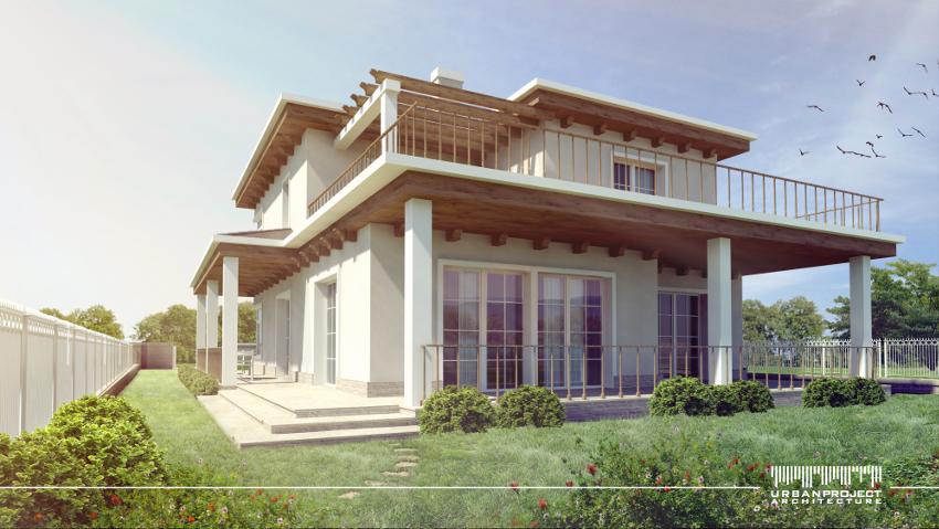 dom w stylu śródziemnomorski, włoski rzymski grecki hiszpański, stylizowany, sielski, projekt indywidualny, tarasy