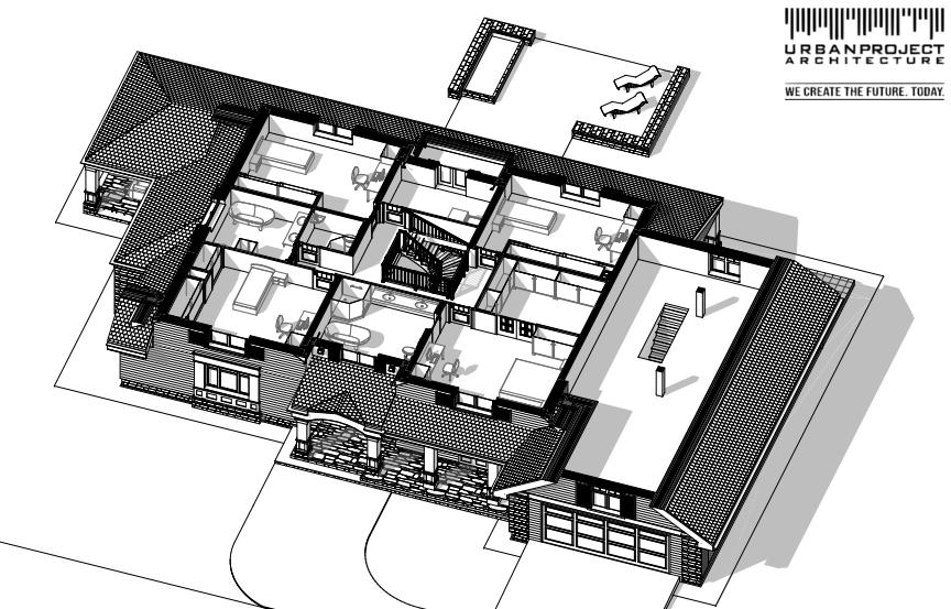 rodzinny dom z werandą w stylu amerykańskim projekt indywidualny wizualizacje wnętrze inspiracje