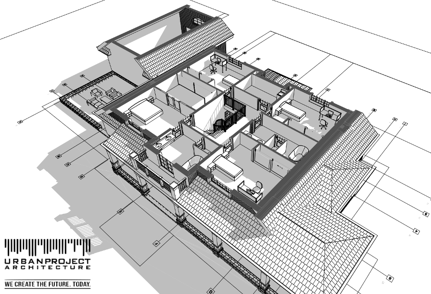 wyjątkowy dom w amerykańskim stylu z poddaszem rzuty wizualizacje układ wnętrz materiały opis indywidualny