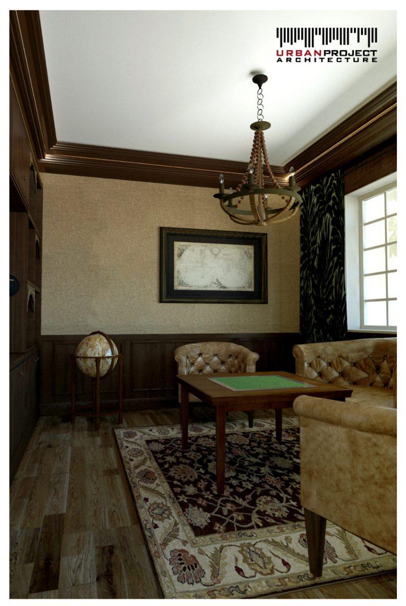 Ciemne listwy na tle białego sufitu świetnie podkreślają wnętrze i dodają mu wyrafinowanego charakteru.