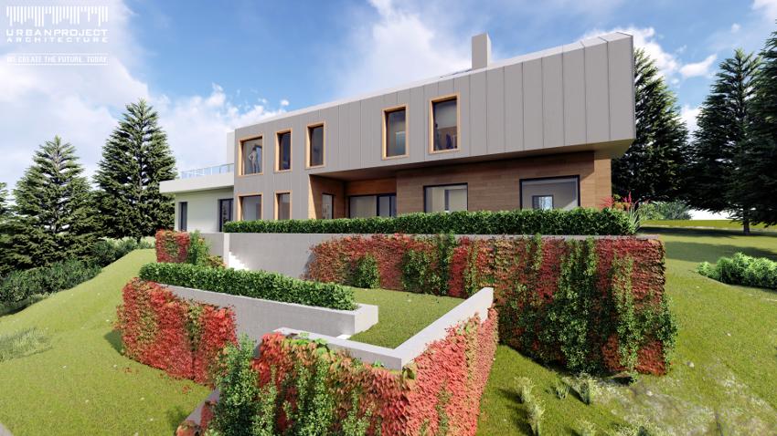 Projekt tradycyjnego domu w nowoczesnym stylu, projekt indywidualny, dom marzeń, nowoczesna architektura, wizualizacje, rzuty
