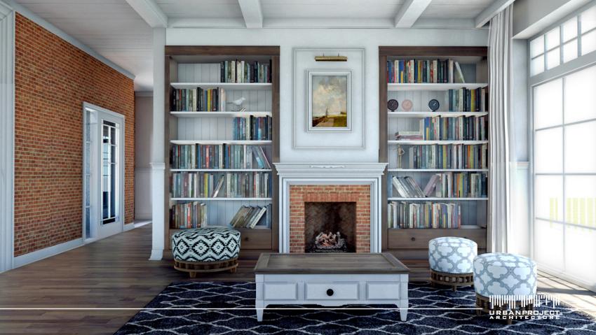 To tylko niewielka namiastka tego, jak mogą wyglądać wnętrza w amerykańskim domu. I co najważniejsze są to wnętrza przestronne i jasne, utrzymane w podobnej stylistyce. Dodatkowo, interesujące wykończenie ścian w korytarzu z pewnością zasługuje na uwagę. Dom z amerykańskim wnętrzem