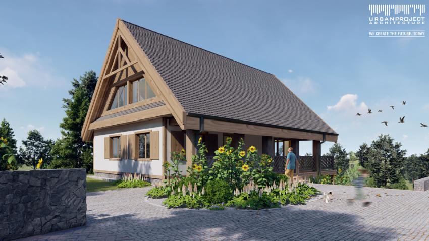 niezwykła architektura, przemyślany układ wnętrz, niepowtarzalny design, 200 metrów kwadratowych powierzchni, projekt małego domu
