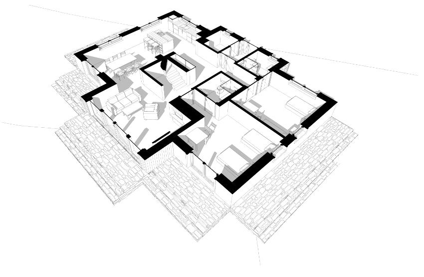 Rodzaje schodów.  DOM MARZEŃ A0215 Wyjątkowy dom indywidualny u stóp Bieszczad. Zastosowanie schodów zabiegowych świetnie sprawdzi się w małych przestrzeniach. Są jednak one niewygodne w codziennej eksploatacji ze względu na zastąpienie spocznika stopniami o zmiennej szerokości.