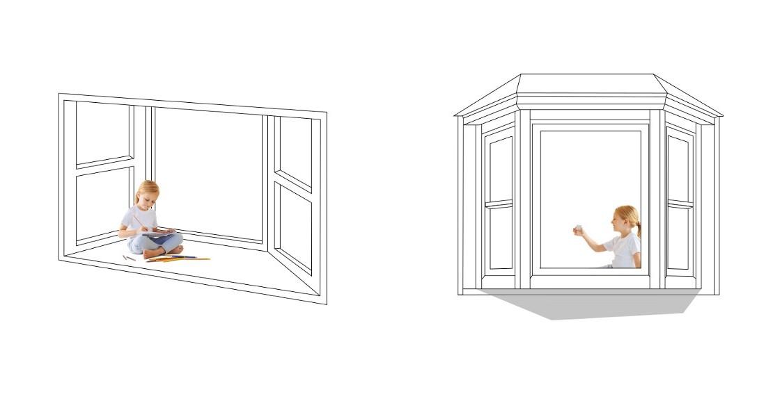 Najprostszy przykład konsekwencji projektowych - bay window, czyli siedzisko przy oknie. Chcąc uzyskać tak efekt we wnętrzu, musisz liczyć się z faktem, że wpłynie to również na wygląd Twojej elewacji. Konsekwencje projektowe