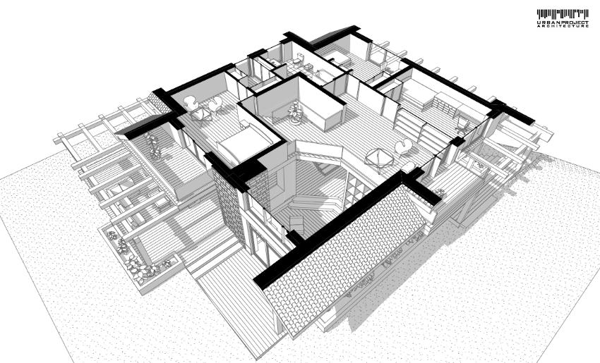 Pomieszczenia na poddaszu zostały wkomponowane w geometrię dachu, dzięki czemu każdy pokój jest wygodny oraz dobrze doświetlony. Projekt ciekawego domu jednorodzinnego - Dom Marzeń A0202