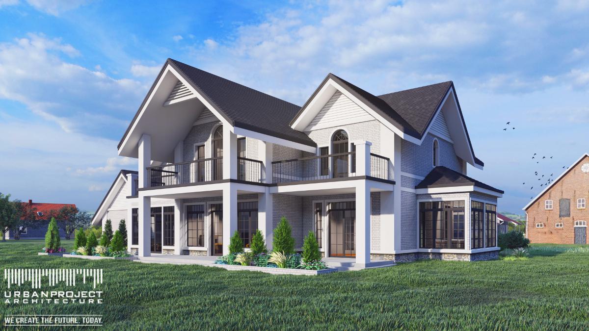 Ten subtelny i elegancki dom można by z powodzeniem określić zarówno mianem amerykańskiego, jak również angielskiego. Jednak nie nazewnictwo jest tu istotne, a wyważone detale i przemyślana kolorystyka. A te grają tutaj doskonale! gotowa koncepcja