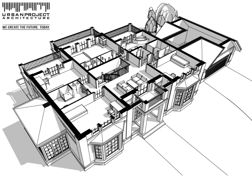 Z tej perspektywy dobrze widać, podział planu budynku na trzy części z komunikacją na środku. Zwróćcie też uwagę na przemyślany układ balkonów. Z pewnością cudownie będzie na nich spędzać ciepłe letnie popołudnia sącząc chłodny napój w ręku. Mmmm sielanka! ;] gotowa koncepcja