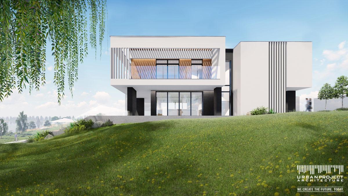 Harmonia przyrody i nowoczesnej architektury - tak w skrócie opisałabym ten projekt. ;] Supernowoczesny dom z wspaniałym widokiem - DOM MARZEŃ A0335