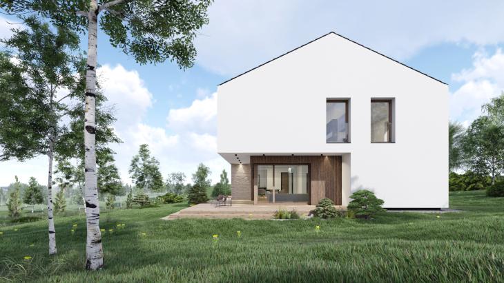 Prosty i nowoczesny dom marzeń. Te słowa najlepiej opisują ten projekt.
