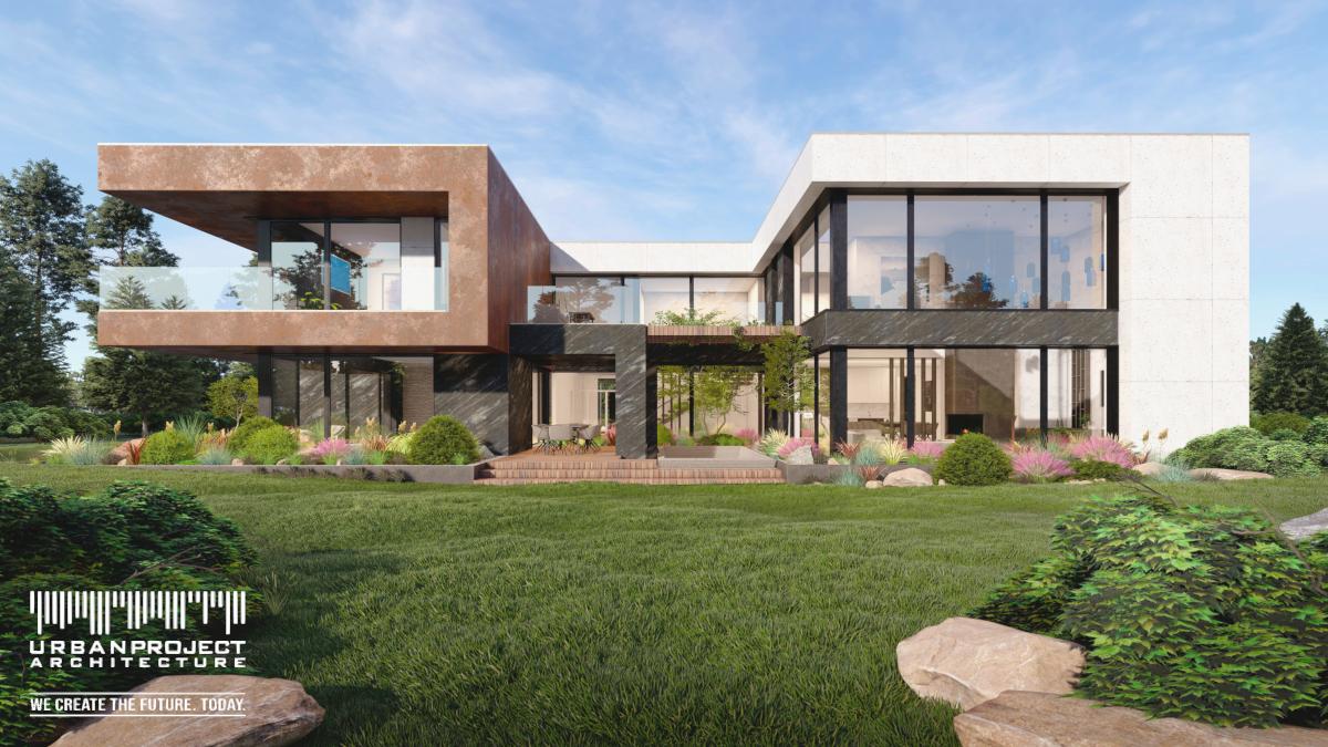 Zastosowanie dachu płaskiego daje dowolność kształtowania bryły, nie musząc martwić się o konstrukcję skomplikowanego dachu wielopołaciowego.