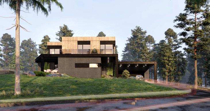 Punkty wrażeń - widoki zewnętrzne na budynek. Przemyślenia architekta.