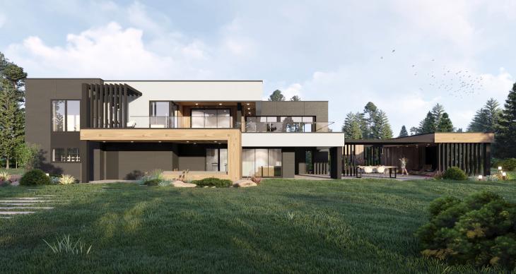 W domach z dwoma pełnymi kondygnacjami sprawdza się również dach płaski, dzięki któremu nie tracimy cennej powierzchni pod dachem.