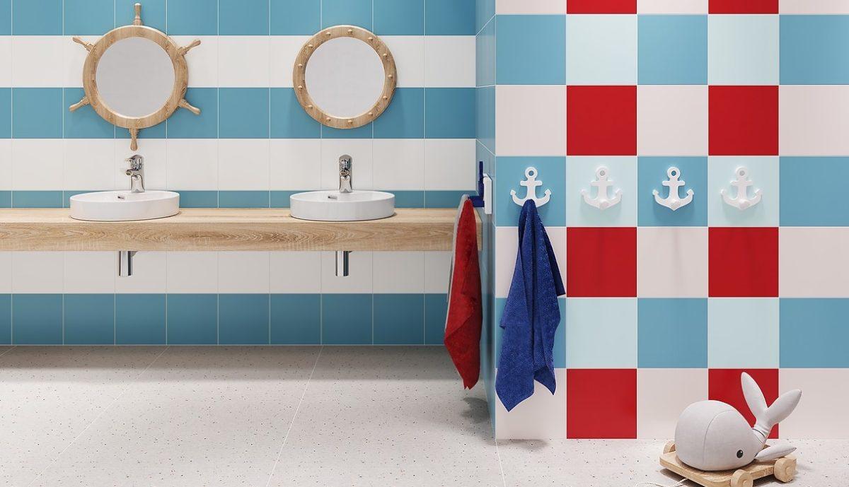 Łazienka w marynarskim stylu
