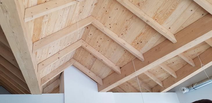 Konstrukcja dachu od wnętrza